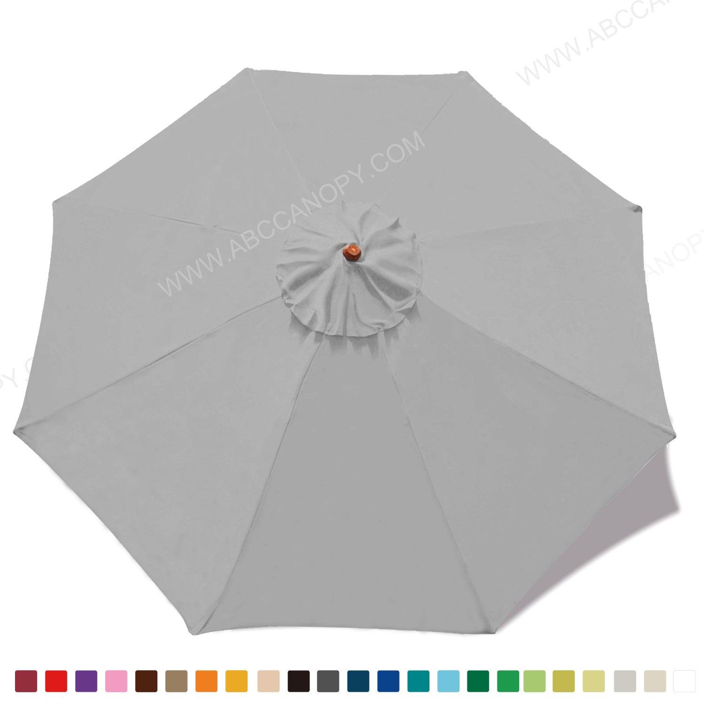 (gray) - (23+ colours)2.7m Market Umbrella Replacement Canopy 8 Ribs (grey) B072V694VM