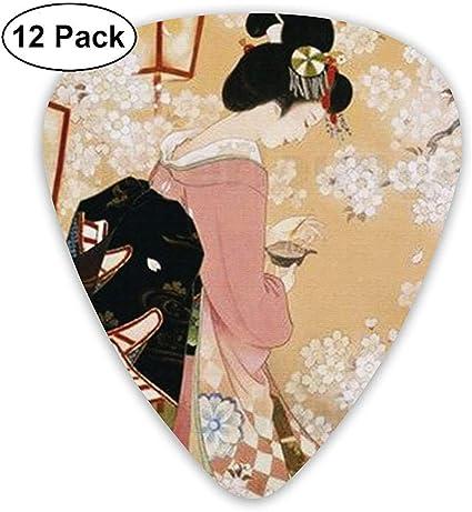 Pack de 12 púas de guitarra japonesa Kabuki, guitarras eléctricas y acústicas: Amazon.es: Instrumentos musicales