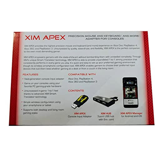 XIM APEX Keyboard Mouse Controller Adapter Converter for PS4 PS3 Xbox One  Xbox 360