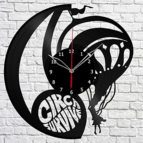 Circa Survive Rock Band Vinyl Record Wall Clock Fan Art Hand