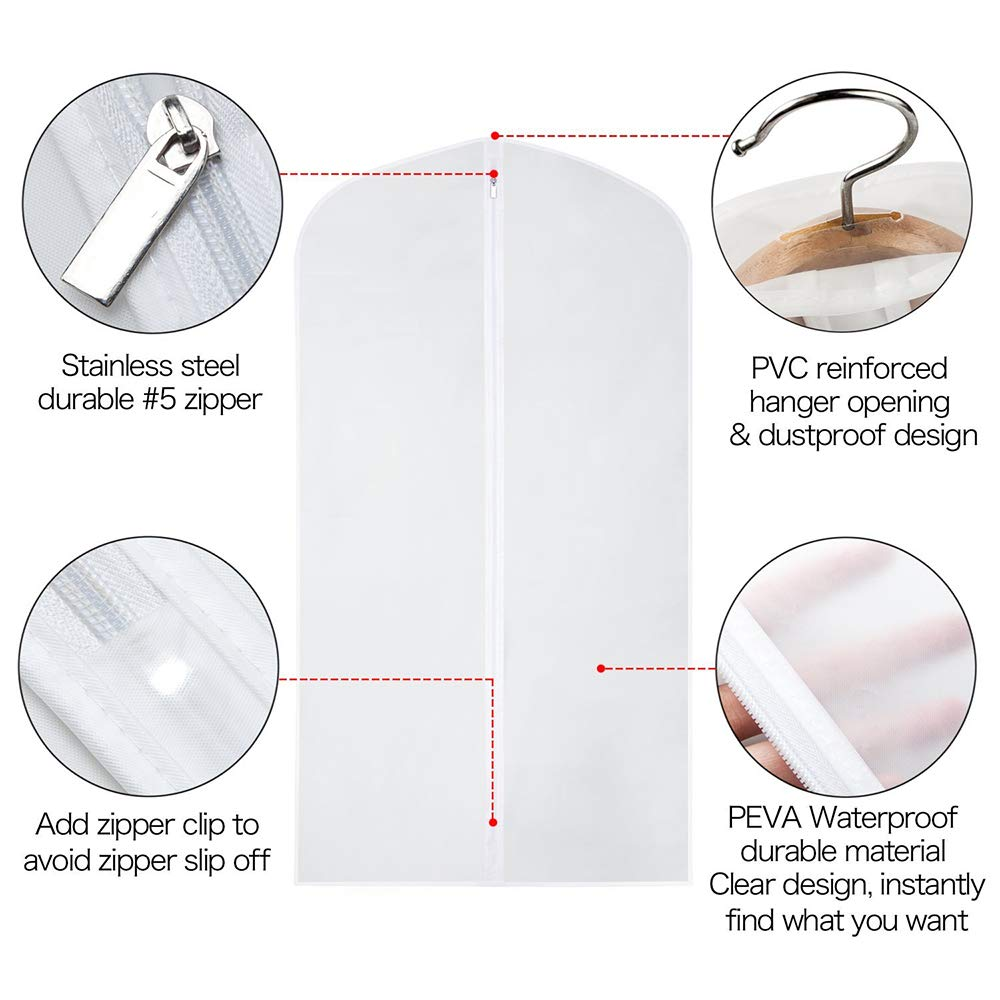 MyLifeUNIT Dust-Proof Suit Clothes Garment Bag Protector Cover (Child) by MyLifeUNIT (Image #5)