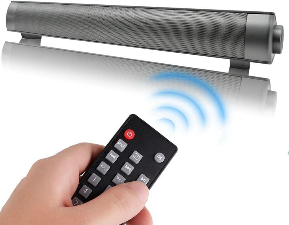 SODIAL Moda Strong Super Bass Sound Bar TV Altavoz inalambrico Bluetooth Home TV Theatre Soundbar con Subwoofer + Control Remoto (Negro)