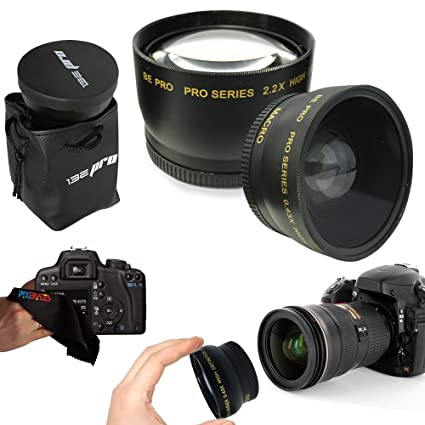 a092ac1605 Amazon.com   I3ePro 58mm .43x Wide Angle Lens + 2.2x Telephoto Lens ...