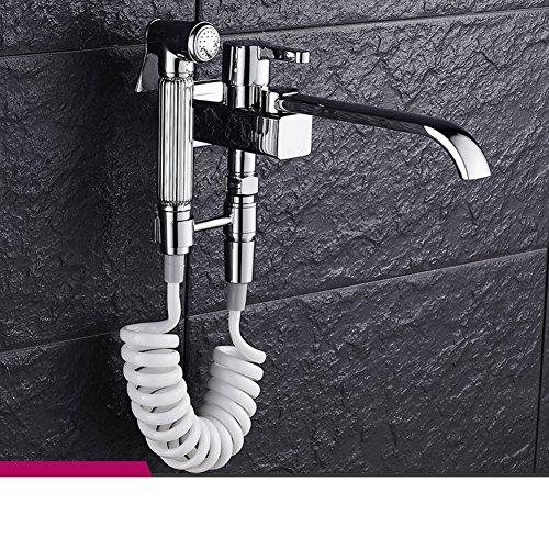 80%OFF multi-purpose MOP tap/Toilet pressurized spray gun Kit/A second angle valve bidet-C