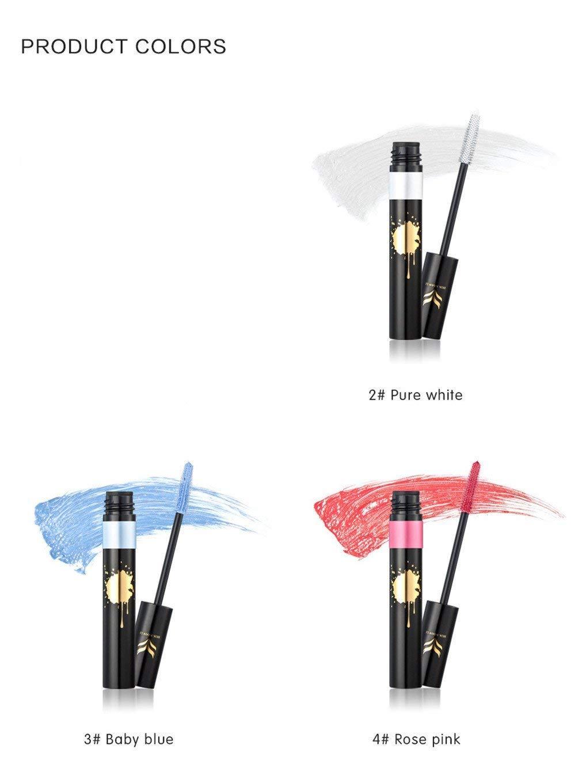 FantasyDay 6Pcs Colors Rainbow Colorful Mascara Waterproof Color Mascara Colorful Eyelash Makeup 3D Fiber Lash Mascara Volume Eye lash Lengthening Gel Perfect Gift for Girls Kids Women by FantasyDay (Image #6)