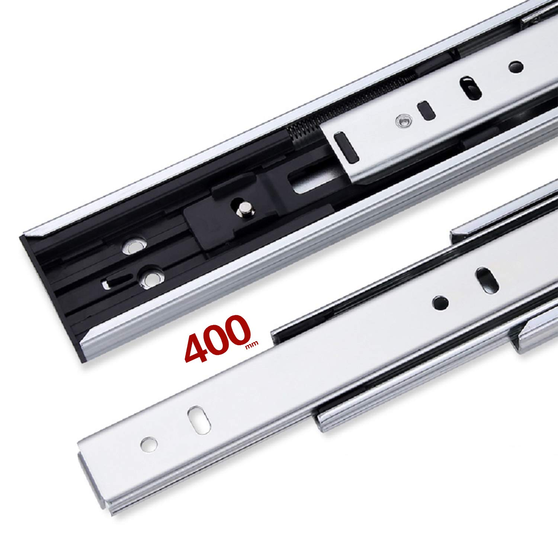 HAFELE Sortie Totale Coulisses pour Tiroirs 300mm avec Amortisseur Tampon Soft Closing Roulement /à Bille Extension Coulisse de Tiroir darmoire de Cuisine Capacit/é de Charge 35kg 1 Paire