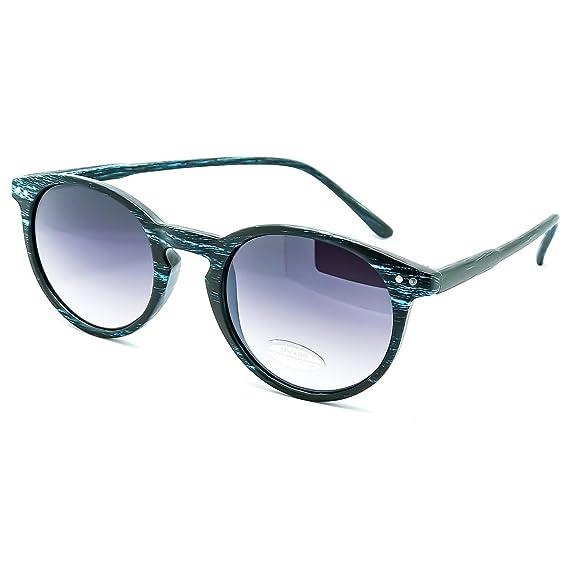 Kiss Sonnenbrille Produktlinie WOOD - stil MOSCOT mod. WAVE-grau-getöntem glas Farbverlauf - RUNDE herren damen VINTAGE - BLACK WOOD TeNaGct4rs