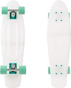 "Retrospec Ten Toes Quip Complete Skateboard 22.5"" Classic Plastic Mini Cruiser Skateboards."