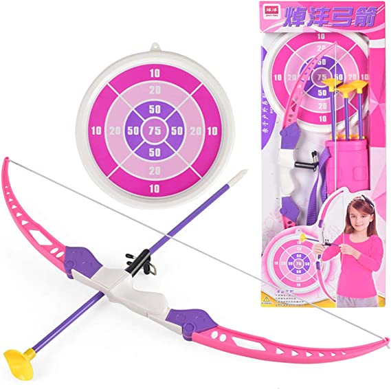 VenGo Simulation Bow Brrow Plastic Soft Sucker Arrow with Target Set Children Sports Toys for Over 3 Years Old