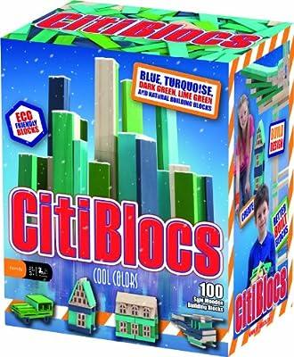 Citiblocs Cool Colors Precision Cut Building Blocks 100 Piece Cool from CitiBlocs