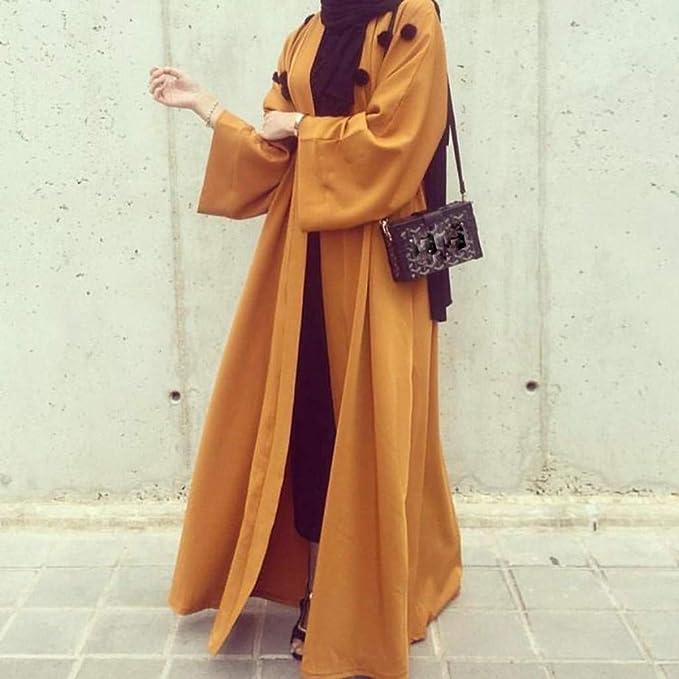 NPRADLA Large Falda Vestido Largo islámico musulmán Lindo ...