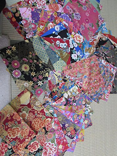 Pre-cut #6 50pieces (9.5 X 9.8) Asian Japanese Oriental wagara Quilt Fabric Patchwork Diy