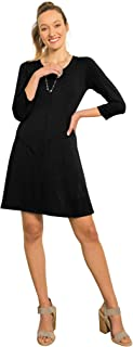 product image for Blue Canoe 100% Organic Cotton Easy Wear Dress 3/4 Sleeves