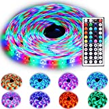 Rxment Led Strip Lighting 10M 32.8 Ft 3528 RGB 600LEDs IP65 Waterproof Flexible Color Changing Full Kit with 44 Keys IR Remote Controller , Control Bo