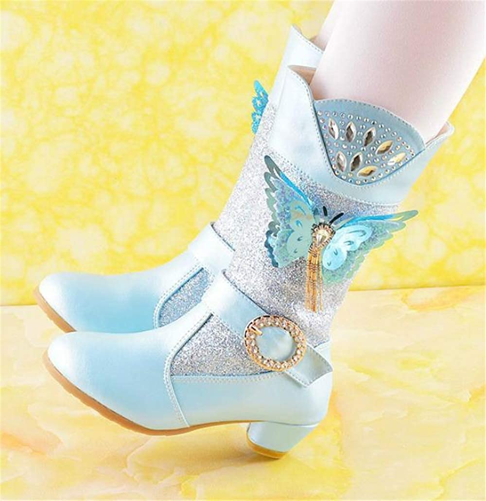 MIKA HOM Girls Boots Ankle Fashion Boots Princess Party Shoes