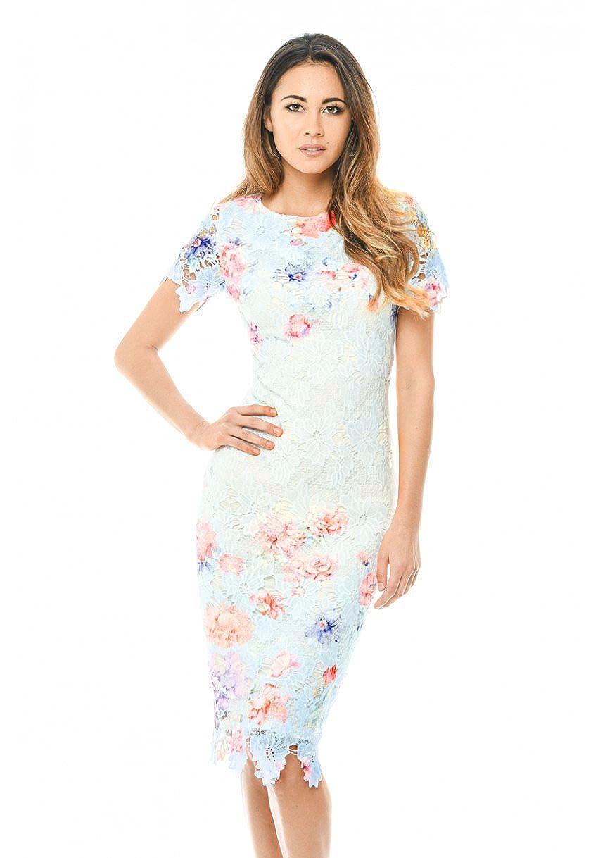 AX Paris Women's Floral Detail Crochet Midi Dress D685
