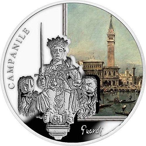 ST MARK CAMPANILE SOS Venice 1 Oz Silver Coin 2$ Niue 2016