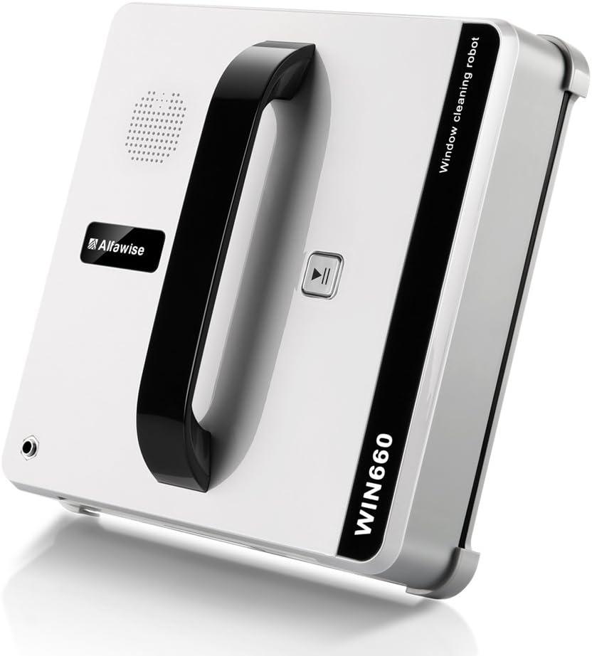 Alfawise WIN660 Robot limpiacristales/limpiaventanas automáticas CON BETELLA DE LÍQUIDO VACÍA COMO REGALO, Robot Aspirador de Forma cuadrada, Ultra limpio sin rastro (Blanco): Amazon.es: Hogar