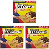 Fit Crunch Snack Size Whey Peanut Butter Protein Bars by Robert Irvine, 3 Pack (18 bars each box, 54 bars total) - Chocolate