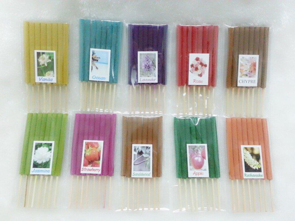 セット9 Mixアロマ10 Scents 80 Sticks Mini Incense Sticks Thai Spaアロマセラピーホームのハーブ&香料、長さ3インチ B00KUKH6IE