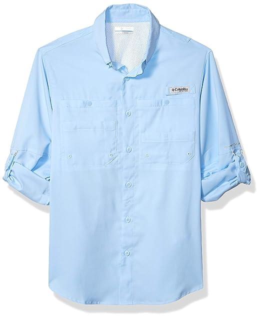 a1c518cf Columbia Men's PFG Tamiami II Long Sleeve Shirt - Big , Sail, X-Small