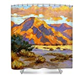Pixels Shower Curtain (74'' x 71'') ''Desert Sunset''