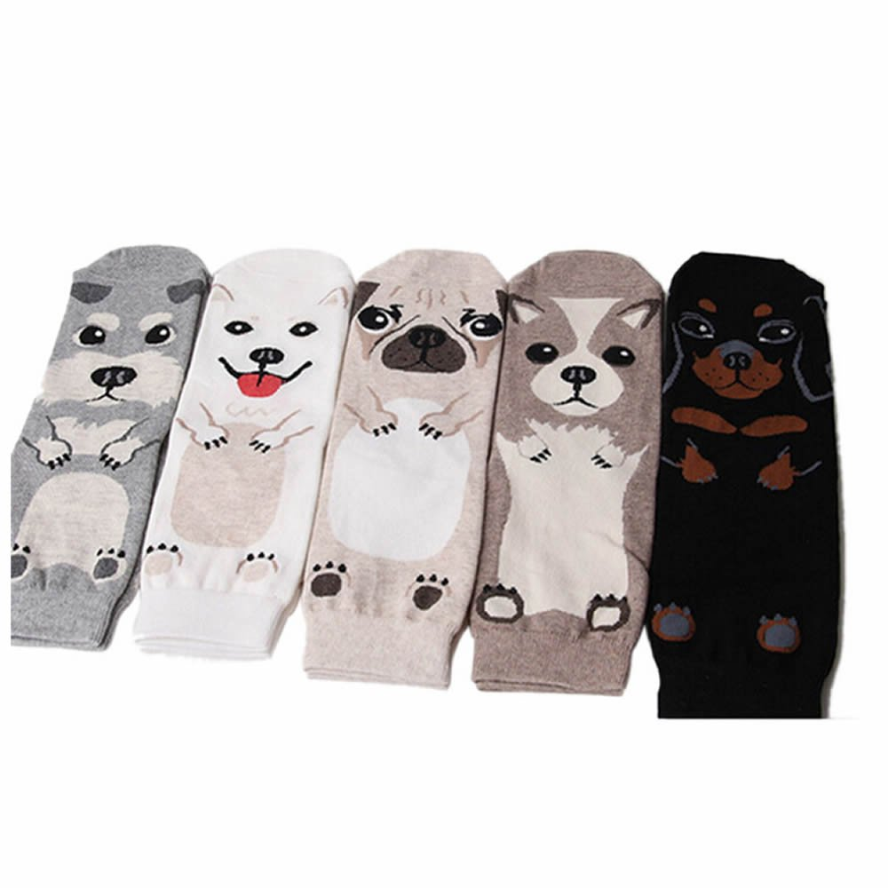 GOOTRADES 5 Pairs Cute Animal Pattern Womens Girls Casual Comfort Cotton Socks