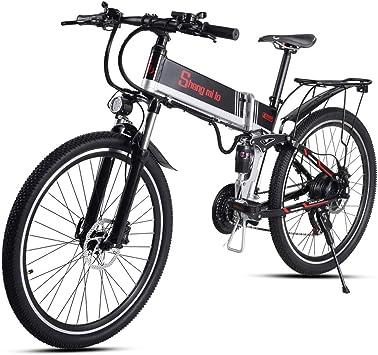 Shengmilo 500W Bicicleta Eléctrica Plegable Shimano 21 Speed Freno ...