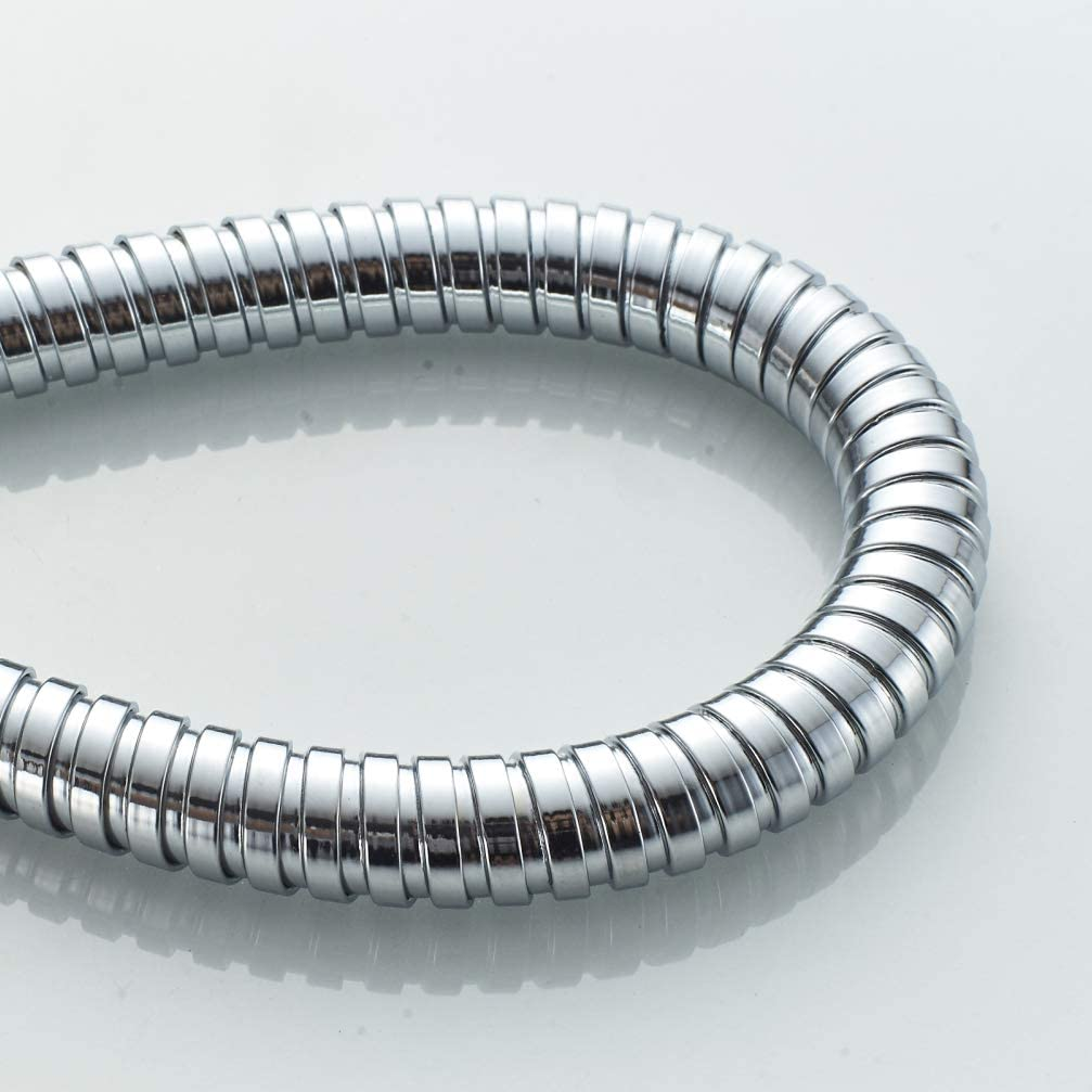 Flexo de Ducha Manguera Nylon Negro Ibergrif M20108 180 mm