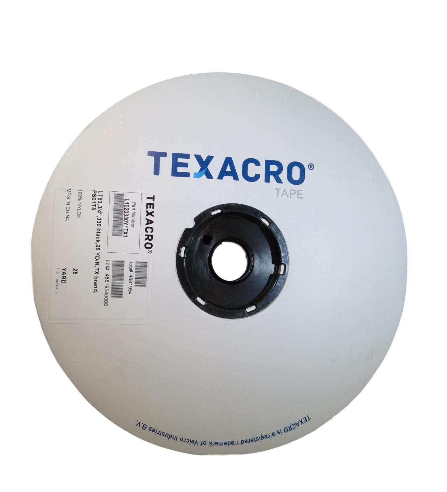 T.R.U. Texacro Hook or Loop Fasteners with Residue Free Adhesive. Available in Multiple Sizes and Colors (Loop-White, 2'') by Texacro