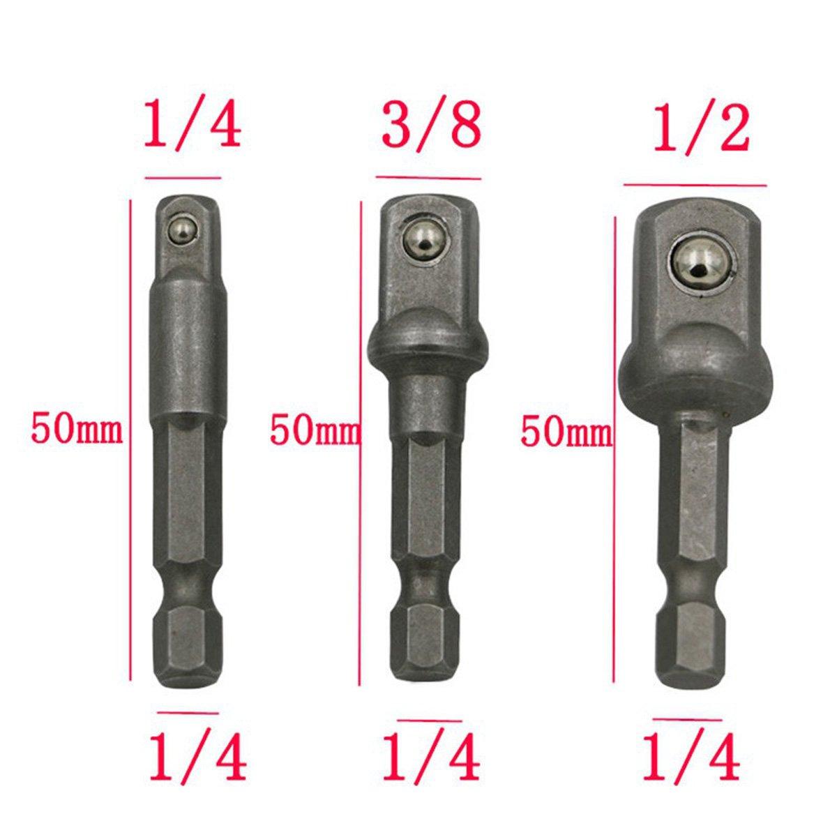 "3PCS Set 1/4"" 3/8"" 1/2"" | Impact Grade Socket"