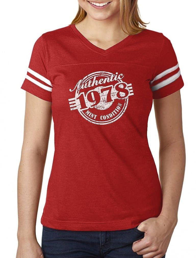 Tstars - 40th Birthday Gift 1978 Mint Condition Women Football Jersey T-Shirt GM0P03hgSu