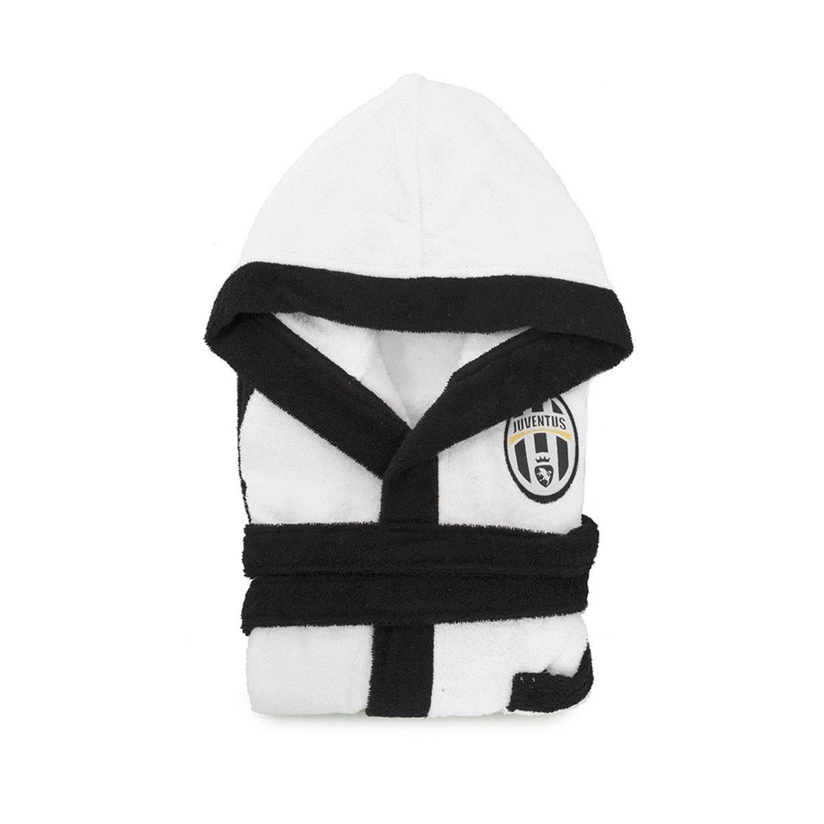 Accappatoio F.C Juventus Juve per adulto Ufficiale in spugna di cotone P266 M