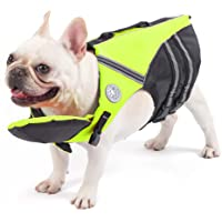 French Bulldog Life Jacket, Pet Life Vest, Dog Lifesaver Preserver with Handle & Reflective, for Swim, Pool, Beach…