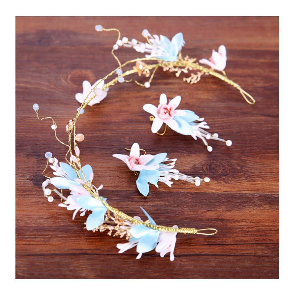 Wreath Flower Headdress Bride Flower Wedding White Hair Accessories Studio Wedding Jewelry