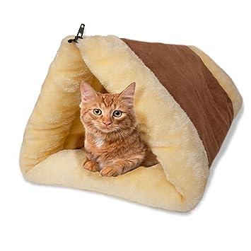 ADOV® Cama Gato, 2 en 1 Casa Mascota Animales Camas para Perro Dormitar Túnel Tubo ...