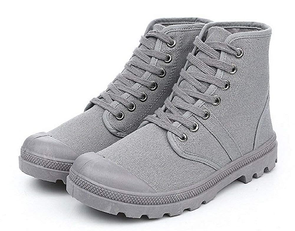 Womens Mens Canvas Lace up Boots 0 0