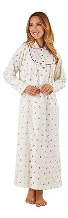 Slenderella Brushed Cotton Full Length Floral Nightdress Sizes 10 (10 12 211fc4b5e