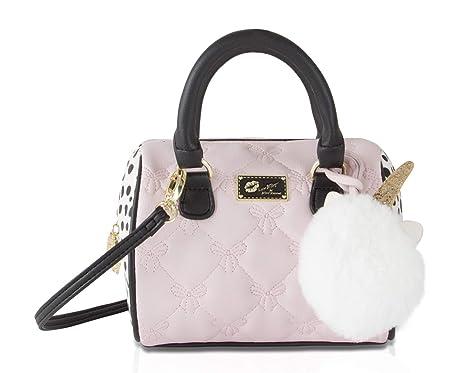 ab8b47a6a0 Luv Betsey Johnson Harlii Bow Mini Crossbody Satchel Bag - Blush   Amazon.ca  Shoes   Handbags