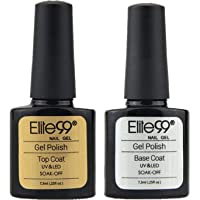 Elite99 Esmaltes Semipermanentes de Uñas en Gel UV LED de Color Neon, 2pcs Kit de Esmaltes de Uñas 7,3ml (Base y top…