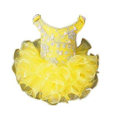 YIPEISHA Girls' Cupcakes Off Shoulder Ruffled Princess Kids Pageant Dresses