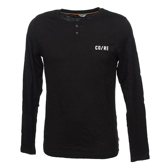 Jack and Jones - Clarify Black ML Tee - Tee Shirt Manches Longues - Noir - 762aea9e77f4