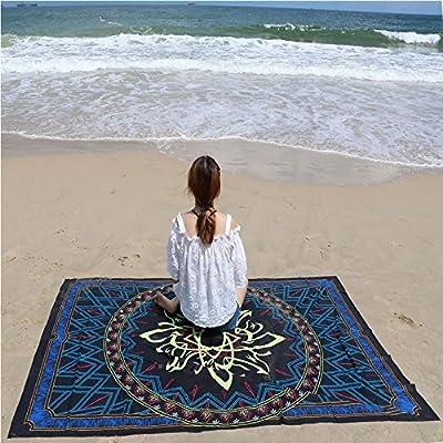 Toalla de playa Plaza de verano impresos geométricos Chiffon delgadas toallas de playa Bufanda Summ