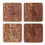 Manhattan, NY Map Coaster by O3 Design Studio, Set