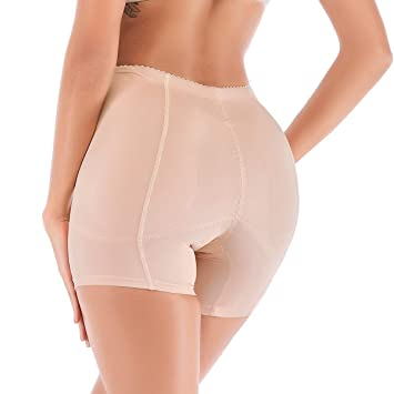 1b133b1d7 Womens Butt Lifter Padded Panties Shapewear Boyshort Fake Butt and Hip  Enhancer Booty Padded Underwear Panties