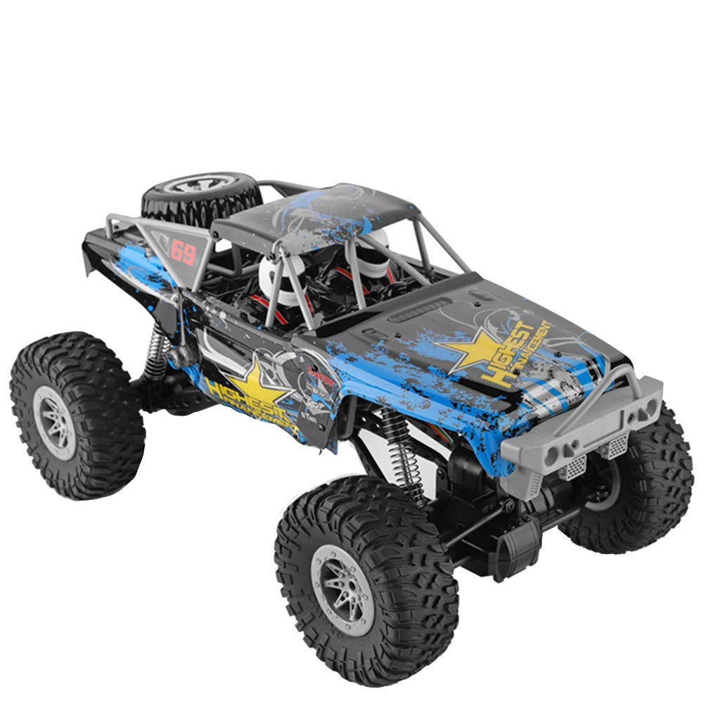 RC Rock Crawler 1/10 Scale 4WD 2.4Ghz Offroad RC Monster Truck 10KM/H High Speed Remote Control Car RC Rock Cruiser Buggy Toy Cars for Children