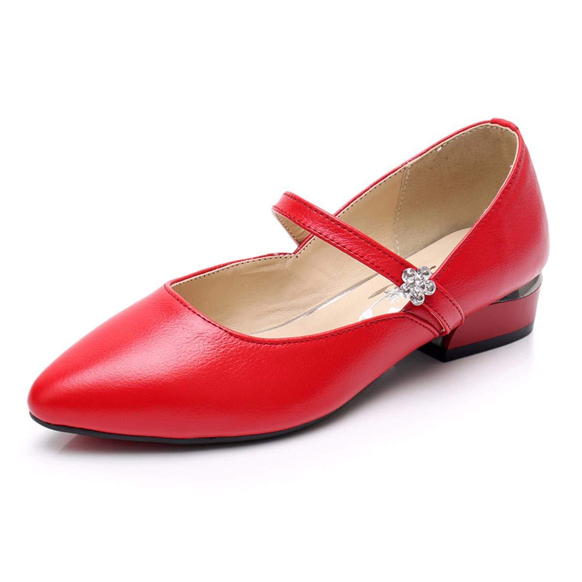 KPHY Damenschuhe/Weiche Grund Gesagt Schuhe Kleine Lederschuhe Flache Schuhe Leder Niedrige Schuhe Herbst Niedrige Leder Absätze.34 des - 490763