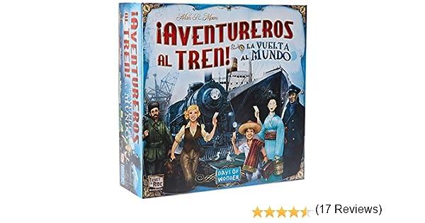 Days of Wonder-¡ Aventureros Al Tren-La Vuelta Al Mundo-Español, color (EDGE DW720826) , color/modelo surtido: Amazon.es: Juguetes y juegos