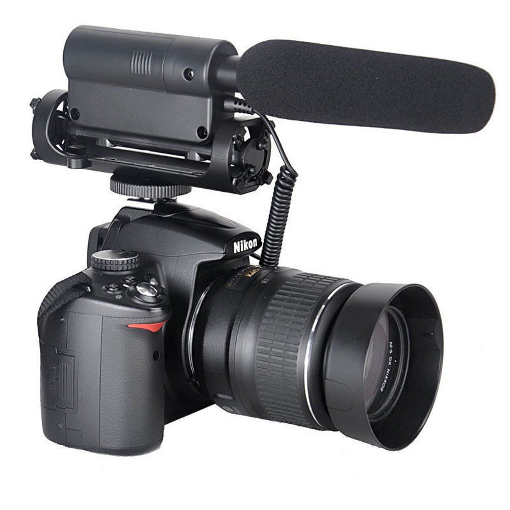 ATian TAKSTAR SGC-598 Professional Video Microphone Interview Microphone Used on DSLR Nikon//Canon//Camera//DV Camcorder 3.5mm Interface ect.