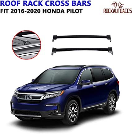 Exterior Accessories Automotive 60kg 132lbs Black Roof Rack Crossbars Roof Rail Cross Bars Fit 2016 2020 Honda Pilot With Factory Side Rails Aluminum Oe Style Cargo Luggage Kayak Rooftop Carrier Kalakritiartgallery Com